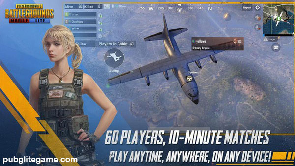 60 players in PUBG Mobile Lite classic mode will compete against each other on the battlegrounds