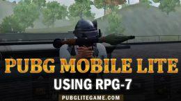 Using RPG-7 In PUBG Mobile Lite