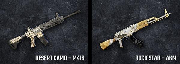 Desert Camo – M416 and Rock Star - AKM