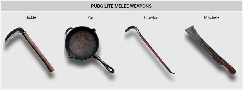 PUBG Lite Melee Weapons