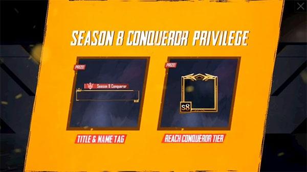 Conqueror Frame in Season 8