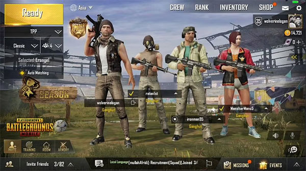 Teammates in PUBG Mobile Lite