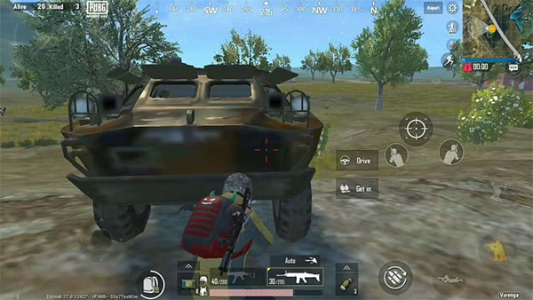 Hide behind Vehicles on Battle Ground