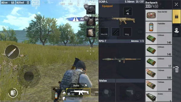 Suitable weapons in PUBG Mobile Lite will be useful to raise K/D ratio