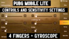 Sensitive Settings in PUBG Mobile Lite