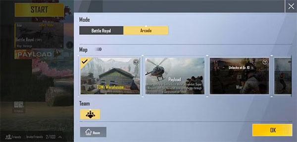 Arcade Mode in PUBG Mobile Lite maps