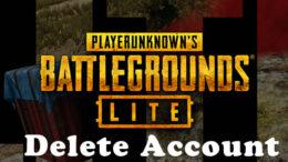 PUBG Lite Delete Account