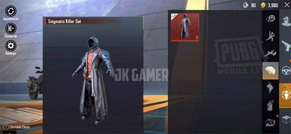 Enigmatic killer set makes you look extremely cool!