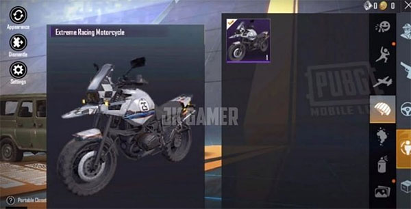 Extreme racing motorcycle for players who like speed